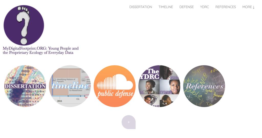 Gregory Donovan - My Digital Footprint home page screenshot