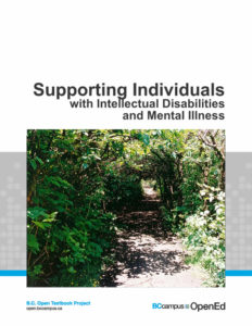 cover of Supporting Individuals text featuring title and photo of a sunny, tree-lined path