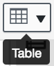 the table icon is a square 3x3 grid in the menu