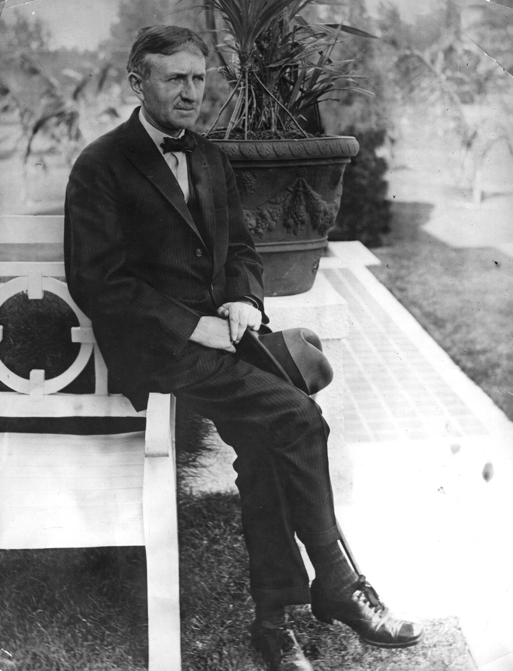 The American industrialist, Harvey Firestone (1868-1932). Original Publication: People Disc - (Photo by General Photographic Agency/Getty Images)