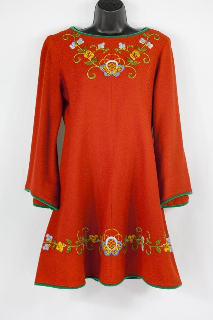 Rosemaled Mini Dress