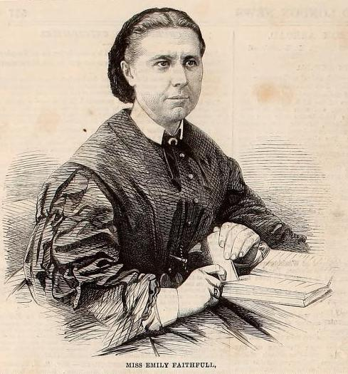 portrait of a white woman with a serious expression, black dress, and a book in front of her