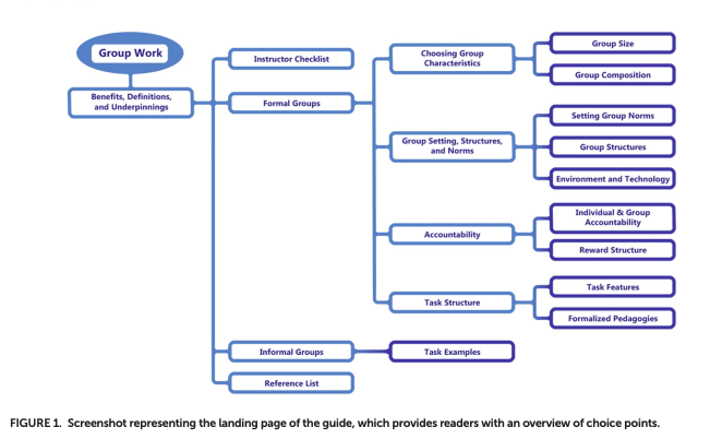 screen shot of interactive group work overview flow chart