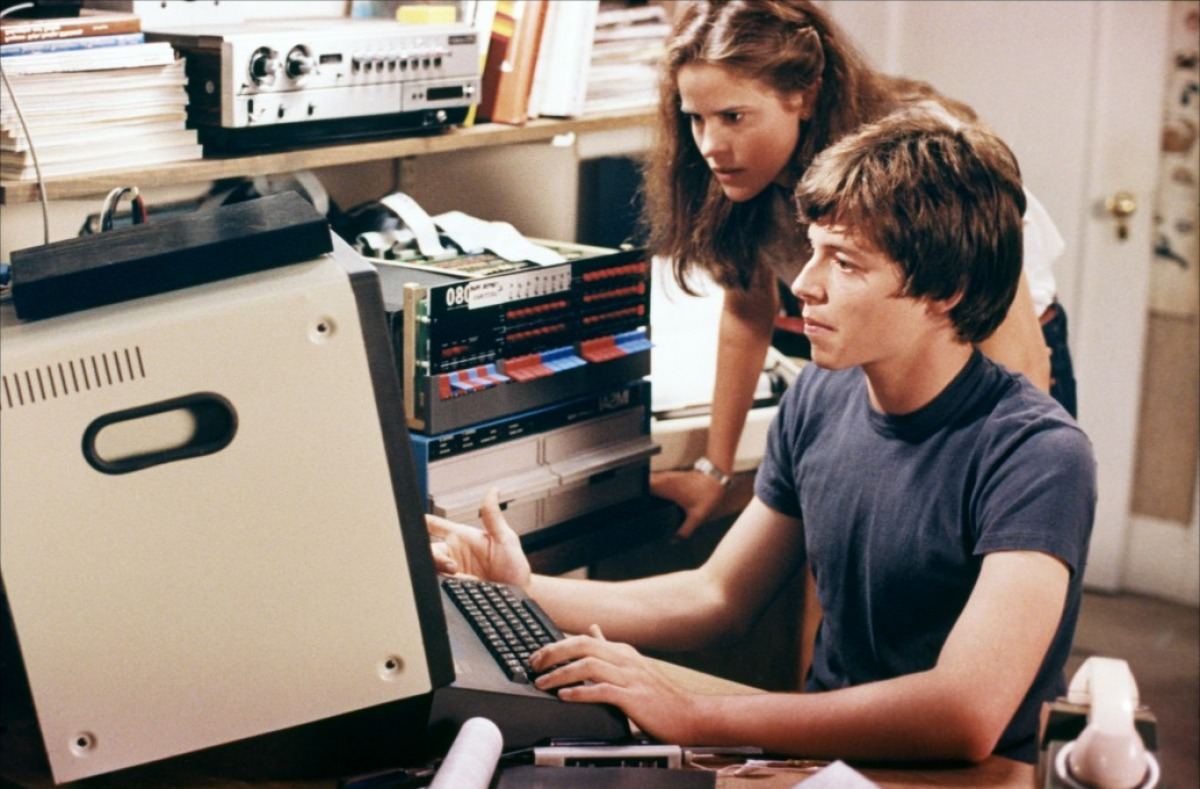 Ally Sheedy and Matthew Broderick in the film War Games