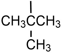 Tertbutyl substituent. CH3CCH3HCH3, with a bond line coming from the second (or center) carbon, indicating where it will bond to a carbon chain.