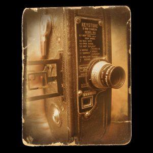 Photo of an antique film camera