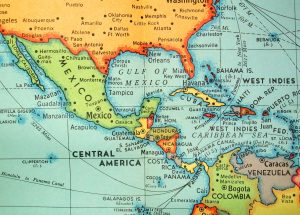 Map of the Central Americas and Caribbean