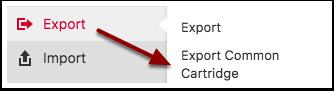Pressbooks export menu